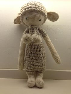 LUPO the lamb made by Mareille H. / crochet pattern by lalylala
