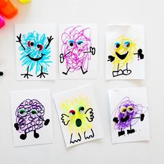 Oct 8 Scribble Monster Artwork: perfect for early years too – Rosa Green Oct 8 Scribble Monster Artwork: perfect for early years too An art project that's so simple, fun and perfect for kids of all ages including preschoolers. Class Art Projects, Art Projects For Adults, Toddler Art Projects, Preschool Art Projects, Art Activities For Kids, Art For Kids, Monster Activities, Monster Crafts, Scribble Art