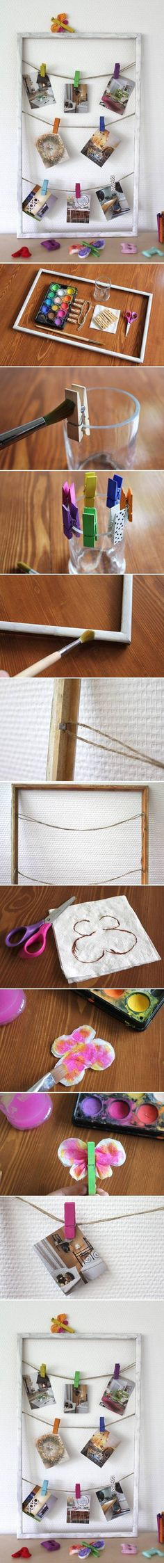 DIY Creative Hanging Picture Frame