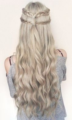 elvish inspired half up style <3 #CrownBraidEasy