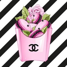 Hand painted flowers and perfume bottles super soft cushion cover and sofa pillow case Home decorative pillow cover Chanel Rose, Chanel Art, Chanel Perfume, Coco Chanel, Fashion Wall Art, Fashion Prints, Image Pinterest, Chanel Wallpapers, Illustrator
