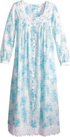 Eileen West Lilac Robe Black Kurti, Night Gown Dress, Nightgown Pattern, Bridal Henna Designs, Dress Neck Designs, Sleep Dress, Nightgowns For Women, Unique Outfits, Unisex