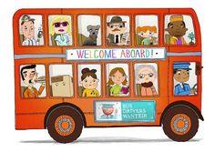 Anjan Sarkar - professional children's illustrator, view portfolio Art Transportation, Welcome Aboard, Children's Book Illustration, Book Illustrations, Bus Driver, Adventure Travel, Packaging Design, Childrens Books, Illustrators
