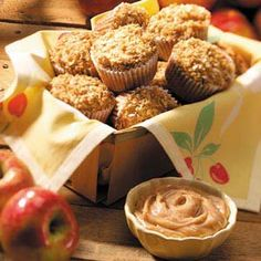 Cinnamon apple muffins... swap out the white flour for whole wheat, and get rid of the oil and just put all apple sauce in, healthy muffins right there!!!