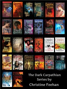 Dark Carpathian Series by Christine Feehan: http://www.thereadingcafe.com/dark-lycan-dark-carpathian-24-by-christine-feehan-a-dual-review/