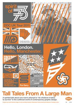 A bit too busy for me but some great ideas. Draplin-designed poster for his UK Tour. Graphic Design Projects, Graphic Design Posters, Graphic Design Typography, Print Design, Website Design Inspiration, Graphic Design Inspiration, Draplin Design, Graphic Illustration, Illustrations