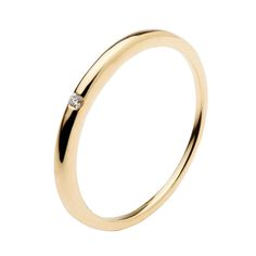 Yellow gold wedding ring with diamond by Polello
