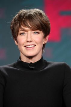 Carrie Coon Photos Photos - Actress Carrie Coon of the television show 'Fargo' speaks onstage during the FX portion of the 2017 Winter Television Critics Association Press Tour at Langham Hotel on January 12, 2017 in Pasadena, California - 2017 Winter TCA Tour - Day 8
