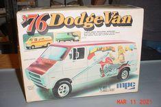 Plastic Model Kits, Plastic Models, Box Art, Trailers, Dodge, Boxes, Van, Trucks, Dioramas