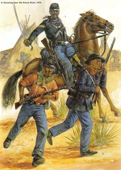 "Buffalo Soldiers formed in 1866 after the civil war, origonaly known as the ""negro cavalry"""