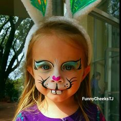 Easter Egg Hunt bunny face painting by FunnyCheeksTJ Dallas Face Painter / Funny Cheeks Dallas