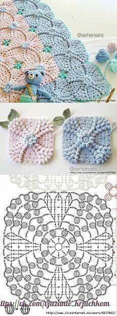 Transcendent Crochet a Solid Granny Square Ideas. Inconceivable Crochet a Solid Granny Square Ideas. Crochet Motifs, Crochet Blocks, Granny Square Crochet Pattern, Crochet Diagram, Crochet Stitches Patterns, Crochet Chart, Crochet Squares, Crochet Doilies, Baby Knitting Patterns