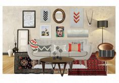 Eclectic Lounging by thenest | Olioboard
