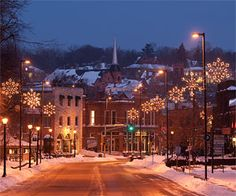 bliss-I love when the snowflake lights go up downtown
