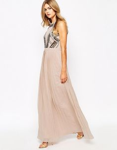 River Island | River Island Embellished Maxi Dress at ASOS