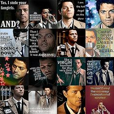Funny Castiel icons