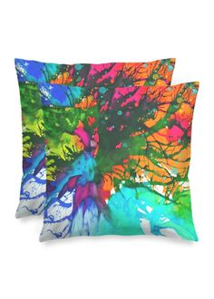 Blossoming 10-f - Square Pillow by Eliora BOUSQUET Red Pillows, Accent Pillows, Black Garden, Black Mountain, Decoration, Pillow Covers, Creations, Abstract, Artist