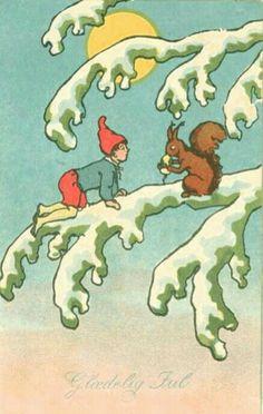 Julekort Chr Kittelsen utg Abel brukt 1943