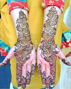 Boldly Made Arabic Mehendi Design Best Beautiful Front and Back Hand Mehndi Designs For Bridal! Easy Mehndi Designs, Latest Mehndi Designs, Mehndi Designs Front Hand, Mehndi Designs For Girls, Mehndi Designs For Beginners, Mehndi Design Photos, Wedding Mehndi Designs, Beautiful Mehndi Design, Dulhan Mehndi Designs