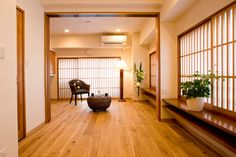 modern japanese room- love how open it is.