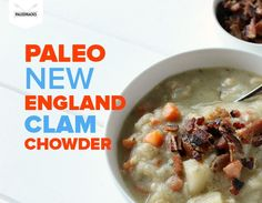 Thick, creamy and delicious: This Paleo Clam Chowder combines classic New England flavors with healthy nourishing ingredients – like a hug in a bowl!