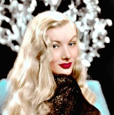 Veronica Lake. Actress Veronica Lake. All the girls wanted to wear their hair like this, but unfortunately their tresses would get caught in the machinery as they worked in the factories during the war. Ouch!!! The government actually made an instructional video with Ms. Lake to encourage ladies to either put their hair up or just cut it