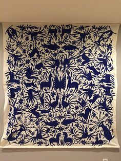 Mexican Textile Bedspread / Tablecloth Otomi by MexicanOtomiArt