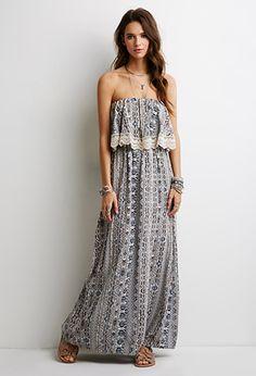Layered Southwestern Print Dress | Forever 21 - 2000080103