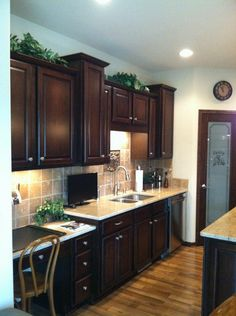 Cabinet facelift on Pinterest | Oak Cabinets, Cabinet Refinishing and ...
