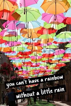 Rain ....... Rainbows and Umbrellas