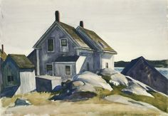 House at the Fort, Gloucester (1924) - Edward Hopper