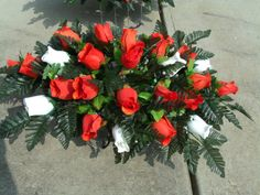 Cemetery Fall Saddle Flower arrangements in by CrazyboutDeco, $39.99