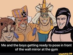 Of the wall mirror at the gym - Me and the boys getting ready to pose in front of the wall mirror at the gym - iFunny :) Jojo's Bizarre Adventure Anime, Jojo Bizzare Adventure, Kars Jojo, Anime Version, Jojo Memes, Best Waifu, Jojo Bizarre, Kawaii Anime, Sleep