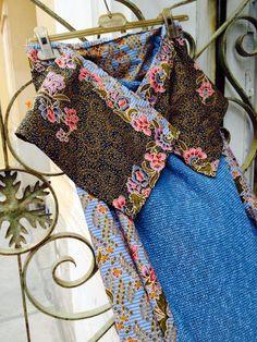 knitting - batik long skirt