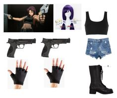 """Black Lagoon Revy Cosplay"" by arianacolonel on Polyvore featuring art"