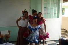 Some of our girls getting ready for a folk dance during a cultural presentation.