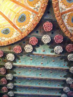 Detalhes do teto - Palácio da Música - Barcelona