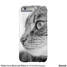 Tabby Cat in Barely There 6 Case White Iphone, 6 Case, Store Design, Iphone Case Covers, Iphone 6, Kitty, Black And White, Cats, Little Kitty