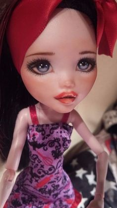 NEW OOAK Draculaura Monster High custom repaint doll by Astral #DollswithClothingAccessories