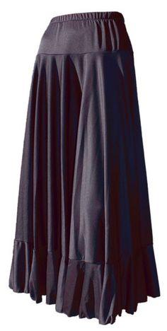 Falda con canesu y volante, ideal para disimular la barriguita y las caderas.Falda de baile flamenco