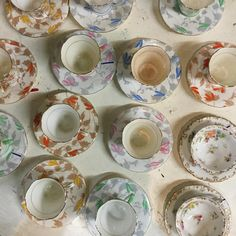 Hitting the old antique trail today! Because, you know, I might need some more stuff. Like these antique teacups and saucers!
