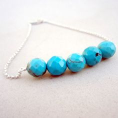 3dc2ae99777c Turquoise Bracelet Bead Bar Gemstone Jewellery by jewelrybycarmal