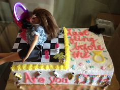 Bachelorette cake I made for my friend