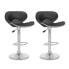 CorLiving B-5 Curved Form Fitting Adjustable Bar Stool (Set of 2)  Curved Form Fitting Adjustable Bar StoolsAdd spice to any bar or kitchen island with