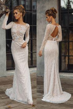 Wedding dress 'LEONI' // Sexy wedding dress, luxury bridal gown, mermaid wedding dress, glittering, shiny, sparkling wedding dress