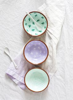 DIY Pattern Bowls - Sugar & Cloth