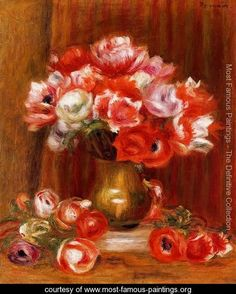Anemones3 - Pierre Auguste Renoir - www.most-famous-paintings.org