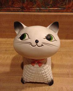 RARE Holt Howard Cozy Kitten Cat Planter Vase w Japan HH Sticker | eBay