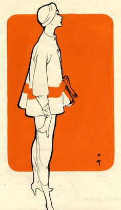 Illustration by René Gruau, 1953, Givenchy, International Textiles   ★    CHARACTER DESIGN REFERENCES™ (https://www.facebook.com/CharacterDesignReferences & https://www.pinterest.com/characterdesigh) • Love Character Design? Join the #CDChallenge (link→ https://www.facebook.com/groups/CharacterDesignChallenge) Share your unique vision of a theme, promote your art in a community of over 50.000 artists!    ★