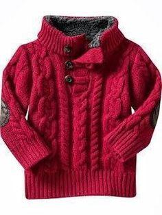 Ideas For Crochet Sweater For Men Baby Boy Baby Knitting Patterns, Knitting For Kids, Knitting Designs, Little Boy Fashion, Kids Fashion, Boys Sweaters, Men Sweater, Boys Winter Clothes, Crochet Baby Cardigan